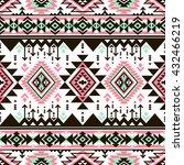 retro color tribal navajo... | Shutterstock .eps vector #432466219