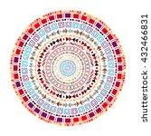 round aztec ornament.... | Shutterstock .eps vector #432466831