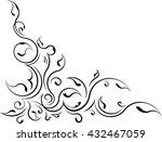 ornamental floral corner.... | Shutterstock .eps vector #432467059