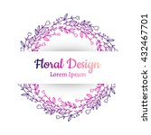 hand drawn floral vector...   Shutterstock .eps vector #432467701