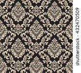vector damask seamless pattern... | Shutterstock .eps vector #432470509
