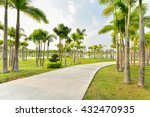 landscape with jogging track at ... | Shutterstock . vector #432470935