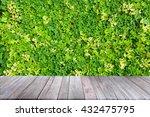 old wooden floor platform on... | Shutterstock . vector #432475795