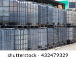old white ibc containers on ... | Shutterstock . vector #432479329