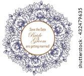 vintage delicate invitation... | Shutterstock .eps vector #432479635