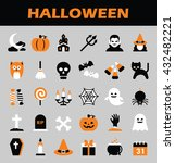 halloween icons | Shutterstock .eps vector #432482221