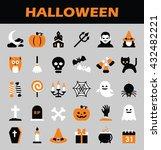 halloween icons | Shutterstock .eps vector #432482221