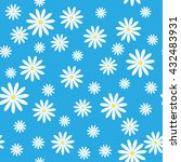 seamless pattern with daisies... | Shutterstock .eps vector #432483931