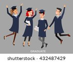vector character graduate and... | Shutterstock .eps vector #432487429