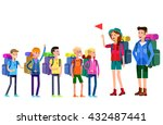 vector illustration of kids... | Shutterstock .eps vector #432487441