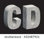 concrete 3d letters. vector...   Shutterstock .eps vector #432487921