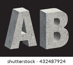 concrete 3d letters. vector... | Shutterstock .eps vector #432487924