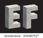concrete 3d letters. vector... | Shutterstock .eps vector #432487927
