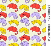 vector seamless pattern with... | Shutterstock .eps vector #432488899