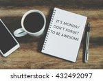 inspirational quote    it's... | Shutterstock . vector #432492097