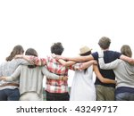 rear view of group of friends... | Shutterstock . vector #43249717