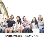 group of young people sitting... | Shutterstock . vector #43249771