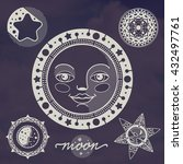 moon night vector set | Shutterstock .eps vector #432497761