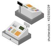 cash register set. flat... | Shutterstock .eps vector #432500239