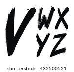 hand written brush alphabet.... | Shutterstock .eps vector #432500521
