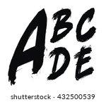 hand written brush alphabet.... | Shutterstock .eps vector #432500539