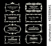doodle vector frame set.ethnic... | Shutterstock .eps vector #432500641