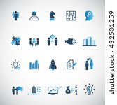 business training icon set | Shutterstock .eps vector #432501259