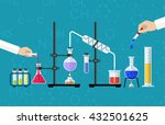 medical laboratory. research ... | Shutterstock .eps vector #432501625