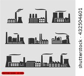 industrial building factory and ... | Shutterstock .eps vector #432504601