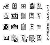 cv curriculum vitae profile... | Shutterstock .eps vector #432504745