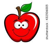 apple emoticon emoji. happy ... | Shutterstock .eps vector #432506005