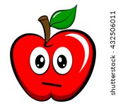 a big red disappointed apple... | Shutterstock .eps vector #432506011