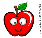 apple emoticon emoji icon flat... | Shutterstock .eps vector #432506089