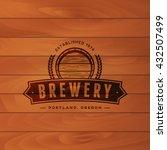 vintage brewery badge. beer... | Shutterstock .eps vector #432507499