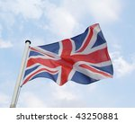 British Flag At Full Mast