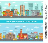 city buildings horizontal... | Shutterstock .eps vector #432514567
