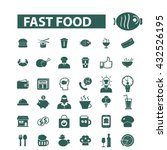 fast food icons  | Shutterstock .eps vector #432526195