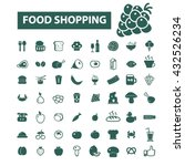 food shopping icons  | Shutterstock .eps vector #432526234