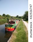 narrow boat on the leeds... | Shutterstock . vector #432526747