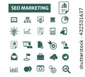 seo marketing icons  | Shutterstock .eps vector #432531637
