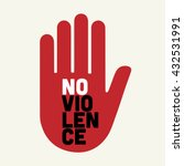 stop no violence illustration. | Shutterstock .eps vector #432531991