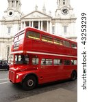 Red London Bus With St Paul\'s...
