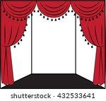 curtain   Shutterstock .eps vector #432533641