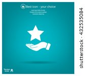 hand and star vector icon | Shutterstock .eps vector #432535084