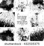 set of grunge textures | Shutterstock .eps vector #432535375