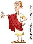 roman emperor showing thumb up | Shutterstock .eps vector #432538744