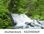 waterfalls in green forest | Shutterstock . vector #432540469