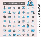 business meeting icons  | Shutterstock .eps vector #432540541