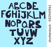 cute funny childish alphabet.... | Shutterstock .eps vector #432543961