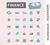 finance icons  | Shutterstock .eps vector #432544399